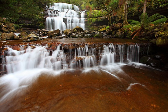 This is the beautiful Liffey Falls and cascades in the early morning back in winter this year.