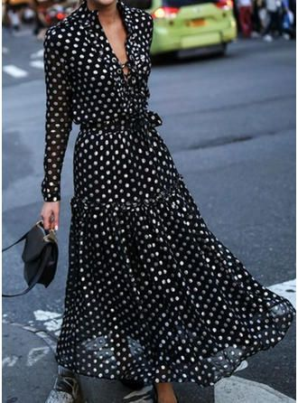 French Fashion Retro Slim Dress High Waist Puff Sleeve Patchwork A Line Party Dress V Neck Single-breasted Elegant Chic Dress Women's Clothing