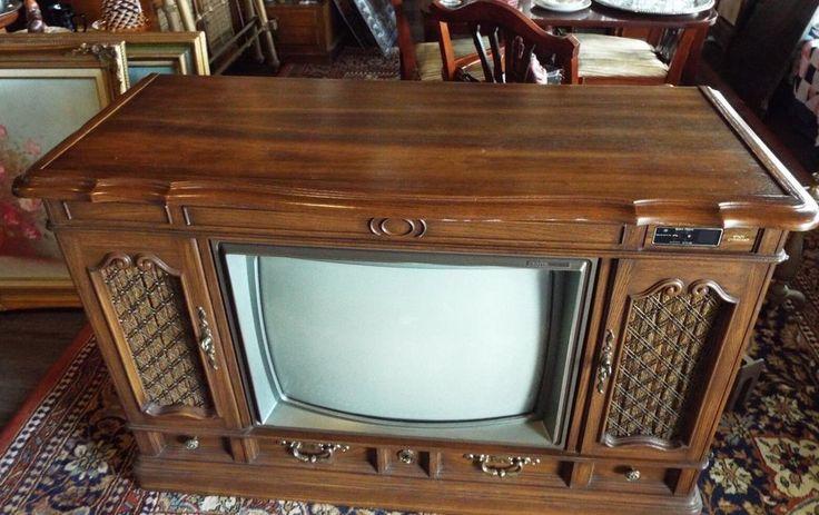 Vintage zenith space command tv television console it