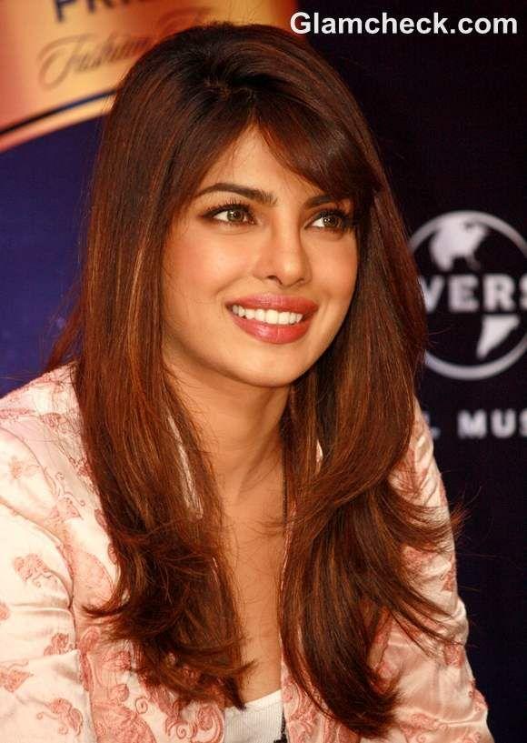 Priyanka Chopra long brown hair