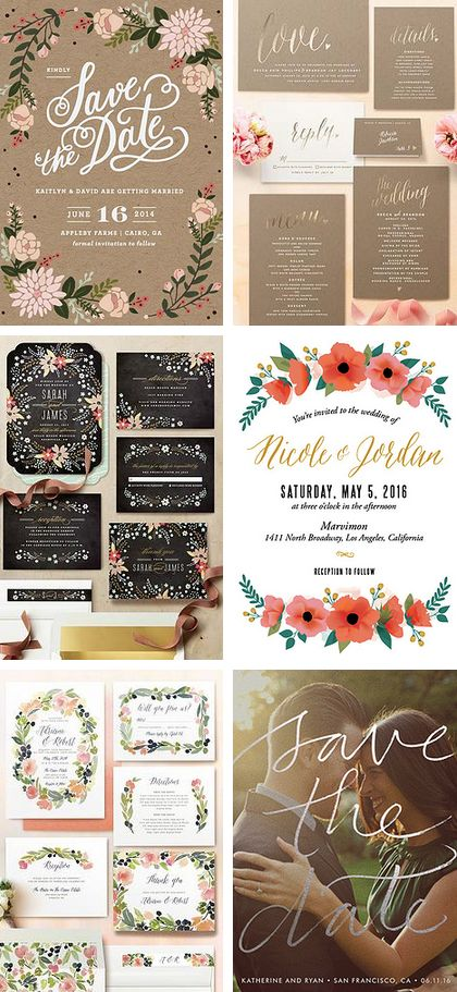 Gorgeous Save the Dates you'll be proud to send!