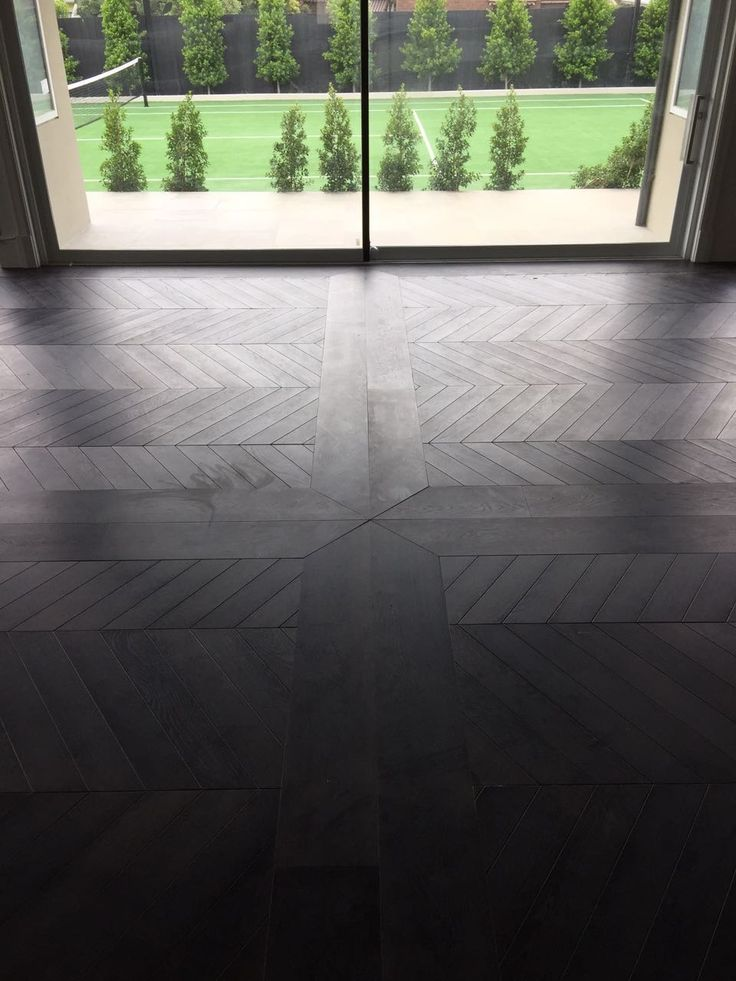 """Stunning Chevron parquet in the colour """"French Grey"""""""