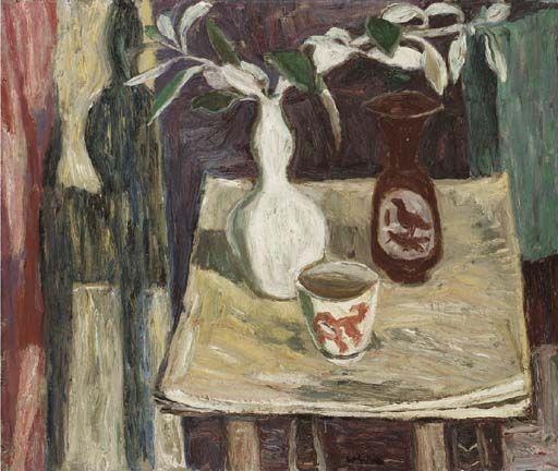 Still life by William Gillies (Scottish 1898–1973)