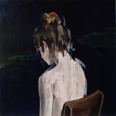 """Saatchi Art Artist joao teixeira; Painting, """"Girl seated on chair"""" #art"""