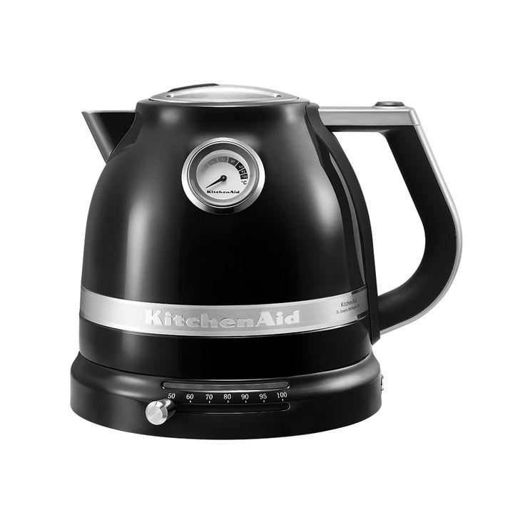 Mit dem KitchenAid Artisan Wasserkocher bis zu 1,5 Liter Wasser auf jede gewünschte Temperatur zwischen 50° C bis 100° C erhitzen.