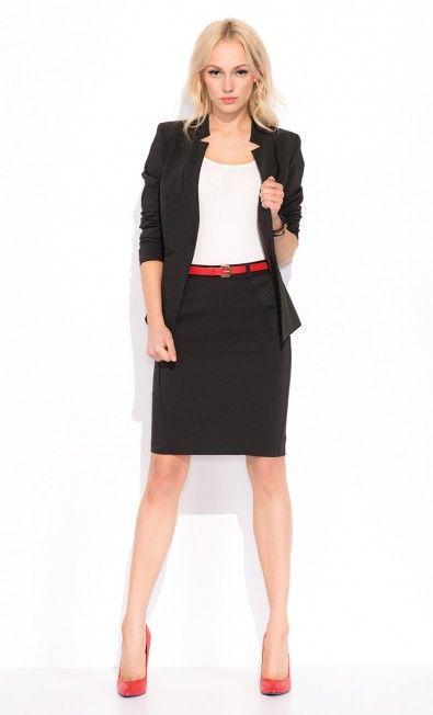 Elegancki czarny żakiet MIRIAM ZAP215049 - ZAPS - Sklep Zaps | on-line fashion