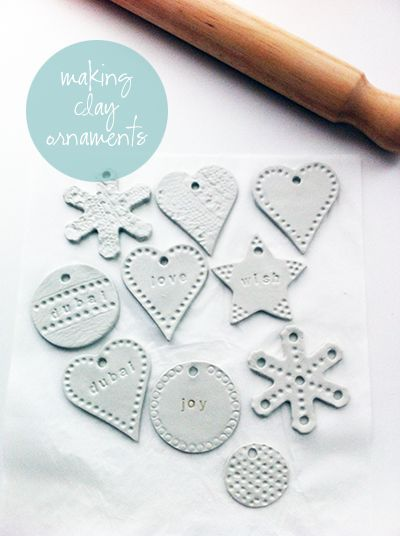 clay ornaments | a designer obsessed with pretty things, beautiful spaces, interesting places and...handbags!