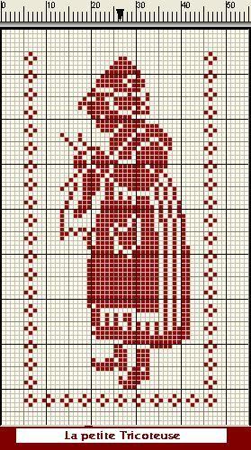 On fait un grand saut un arrière avec cette grille, que j'avais réalisée d'après un rideau au crochet confectionné par mon...