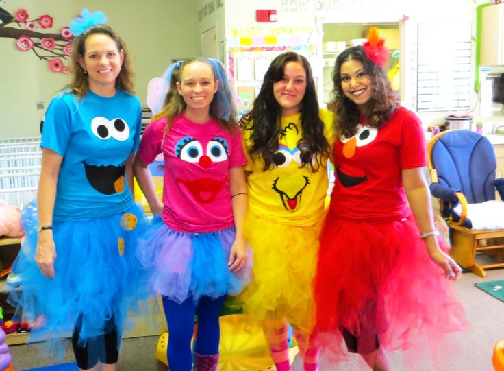 sesame street costumes adults Cookie Monster, Elmo, Big Bird, Abby Cadabby                                                                                                                                                     More