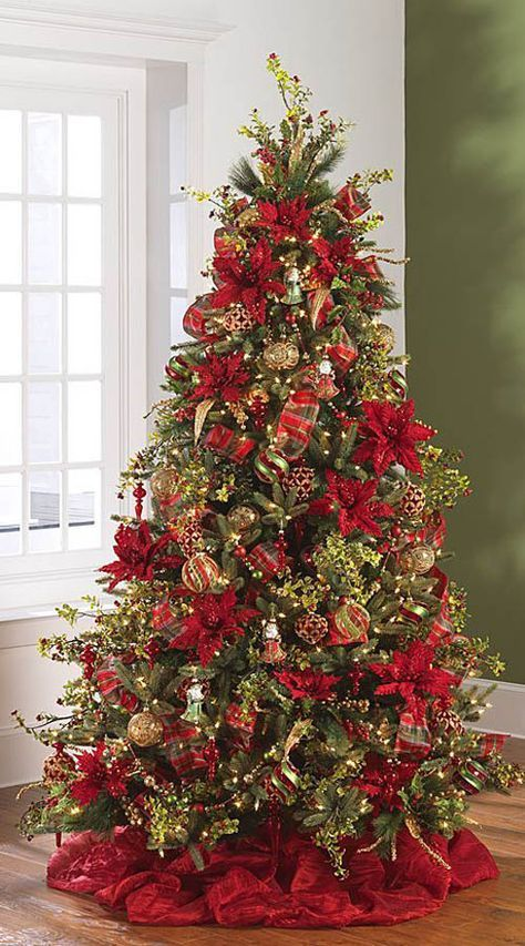 Unique Christmas Trees Ideas On Pinterest White Christmas - People are decorating their christmas trees with flowers and the results are amazing