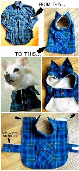 DIY Up-cycled Shirt To Dog Coat, 4 DIY Dog Sweater And Coat Patterns