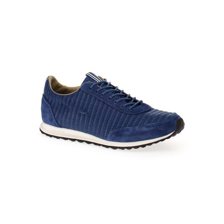 Sneakers Helaine Runner en toile tressée et cuir - Dk blue | LACOSTE