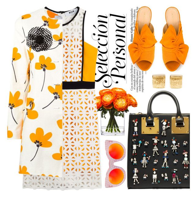 Tangerine tango by pensivepeacock on Polyvore featuring polyvore fashion style MSGM Eggs Charlotte Olympia Sophie Hulme Chanel Cornelia Webb Lux-Art Silks clothing