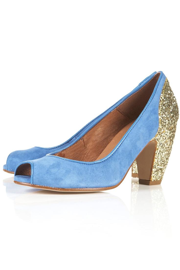 : Glitter Peeps, Sparkly Shoes, Glitter Shoes, Peeps Shoes, Miu Miu, Something Blue, Glitter Heels, Topshop Jazzhand, Jazzhand Glitter