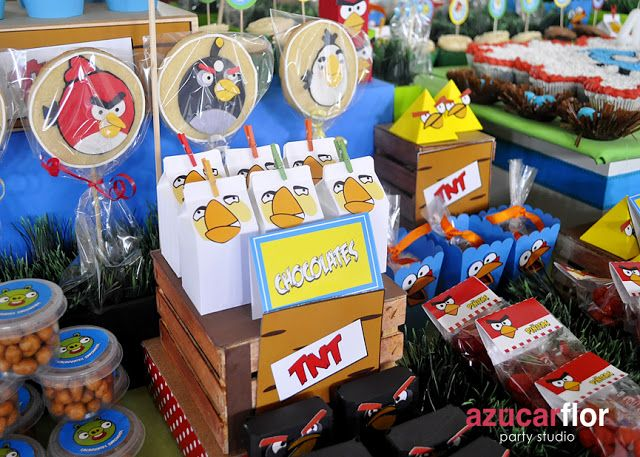 AZUCAR FLOR party studio: Angry Birds (Matias)
