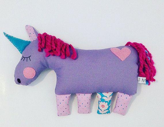 Sherbert the sleepy Unicorn plush toy for babies $25 by LilMeegs