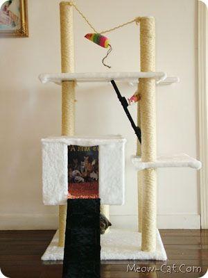 Diy simple cat tree tutorial cat tree plans pinterest for Easy diy cat furniture