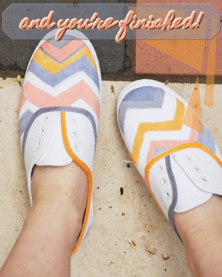 Dull feet- Chevron shoes!