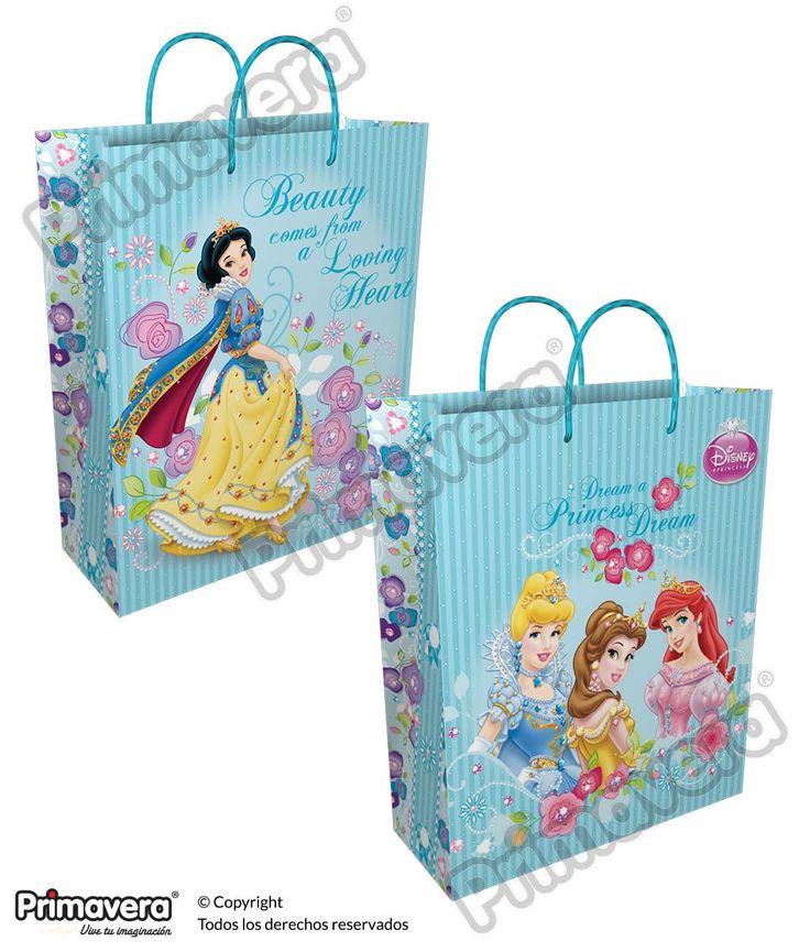 Bolsa Regalo Premium Princesas http://envoltura.papelesprimavera.com/product/bolsa-regalo-personajes-nina-premium-princesas-3/