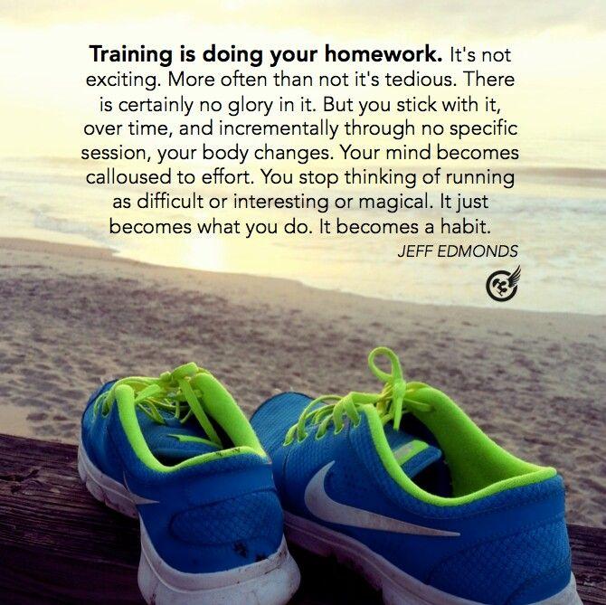 training is like homework