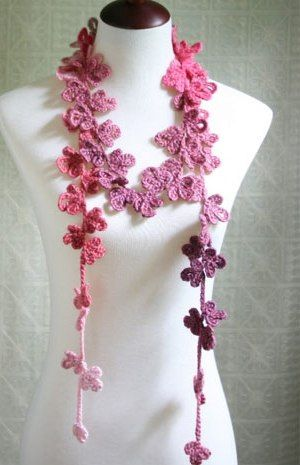 Flower Scarf (Kim loves this one -- in white or black/grays)