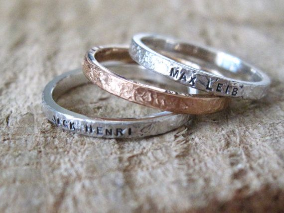 Rose Gold and Sterling Silver Personalized hand by MejiaJewelry, $145.00