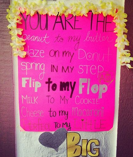 143 best images about big little crafts on pinterest for Sorority crafts for little