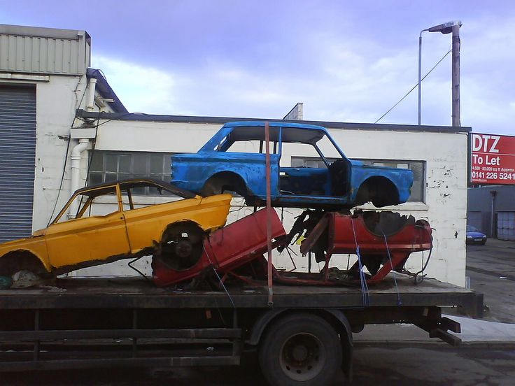Saw These Wile Driving My Truck And Thought What A Sad End To Some Nice Little Cars They Are In Hillington Ind Est Scotland Near Glasgow Airport