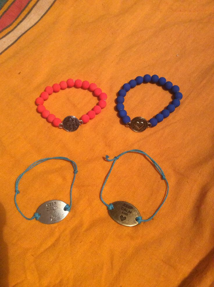 Algumas das pulseiras...