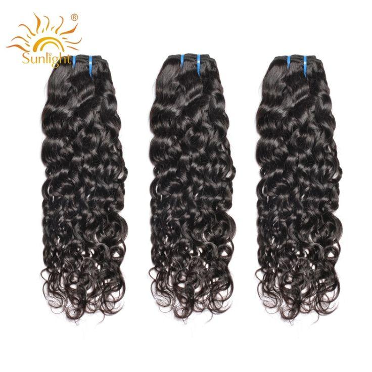 Brazilian Water Wave Bundles Sunlight Human Hair Weave Bundles Natural Water Wave Hair Extensions 1B Non Remy Hair 4 / 3 Bundles