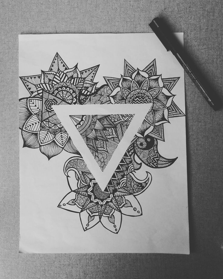 Water symbol simbolo dell'acqua mandala triangolo flowers flowerdetails flower details detail hears ying and yang