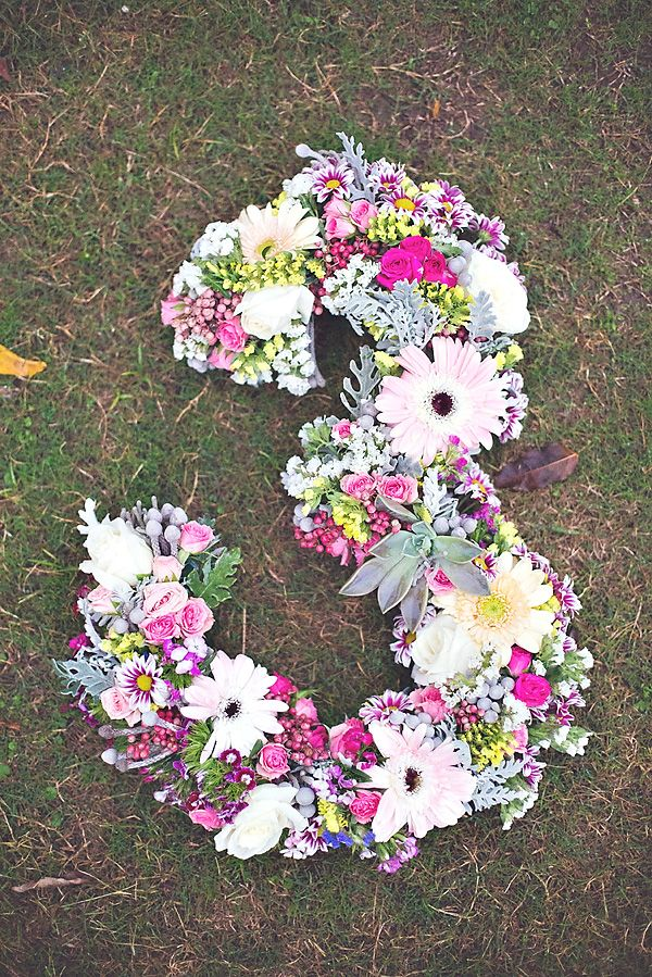 Fresh Floral Number | Gorgeous Boho Chic Birthday Party {Pastels & Feathers}