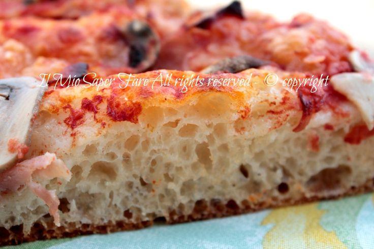 Impasto pizza con water roux o Tangzhong :un metodo che ci garantisce una pizza leggera con alveolatura omogenea e piccola.Molto idratato.Impasto base Bonci