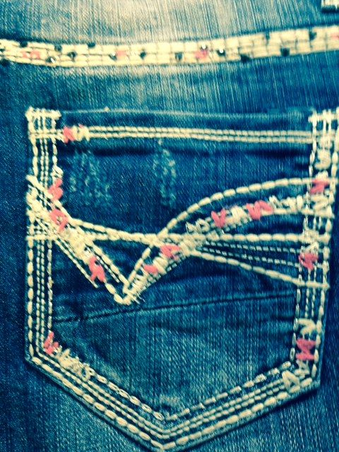 Rock & Roll Cowgirl Multi Color Embroidery Riding Fit Jean: Sierra Western Wear #Rock & Roll Riding Jean #Rock & Roll Cowgirl #Western Riding Jean #Western Wear #Cowgirl Western Wear #Cowgirl Fashion