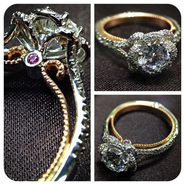 Veragio Gold and Platinum ring with pink stone (http://www.verragio.com/Verragio-Engagement-Rings/Couture-Engagement-Rings/COUTURE-0426R-TT)