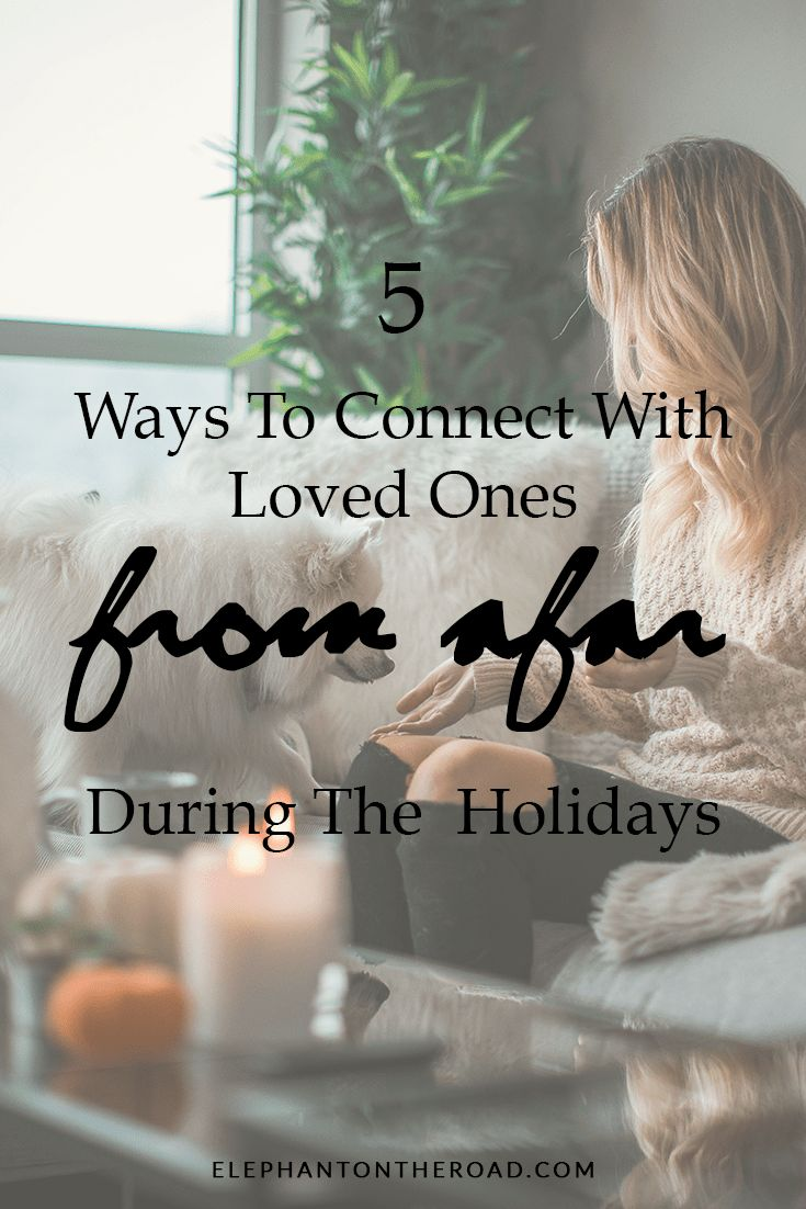 5 Ways To Connect With Loved Ones From Afar During The Holidays. Elephant on the Road.