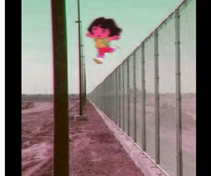 Dora jumping over a fence!!!