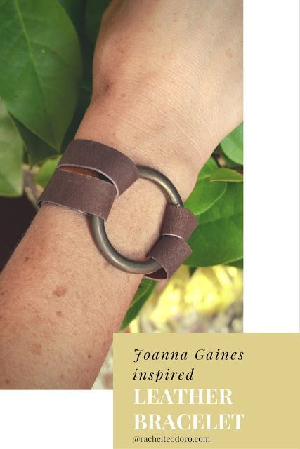 Joanna Gaines Leather Statement Bracelet Tutorial