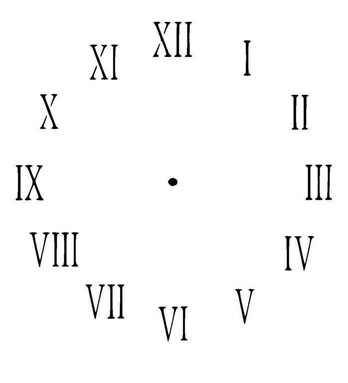 Clock Face Stencil With Roman Numerics 1
