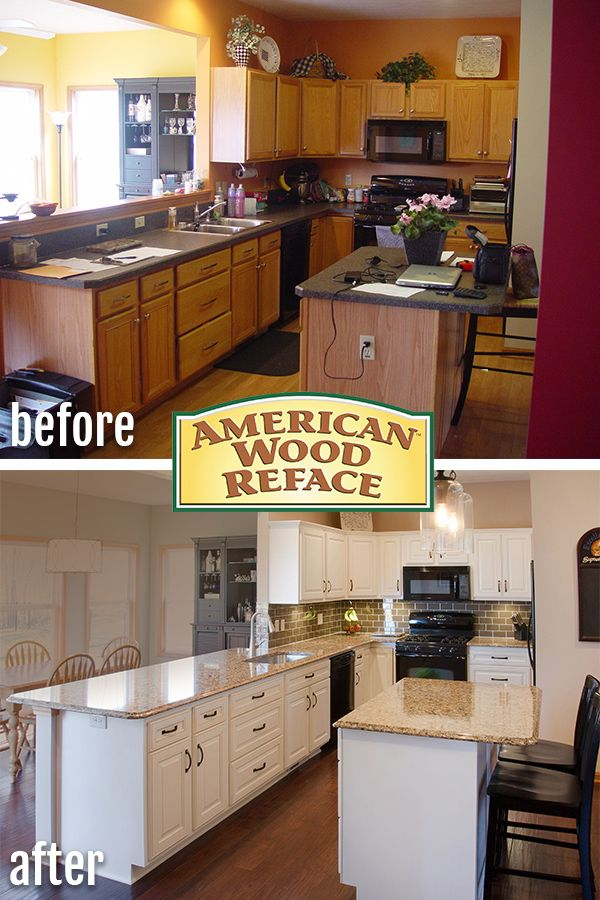 We Worked With This Family To Update Their Kitchen Including Refacing Their Kitchen Cabinets Kitchen Remodeling Services Kitchen Remodel Before After Kitchen