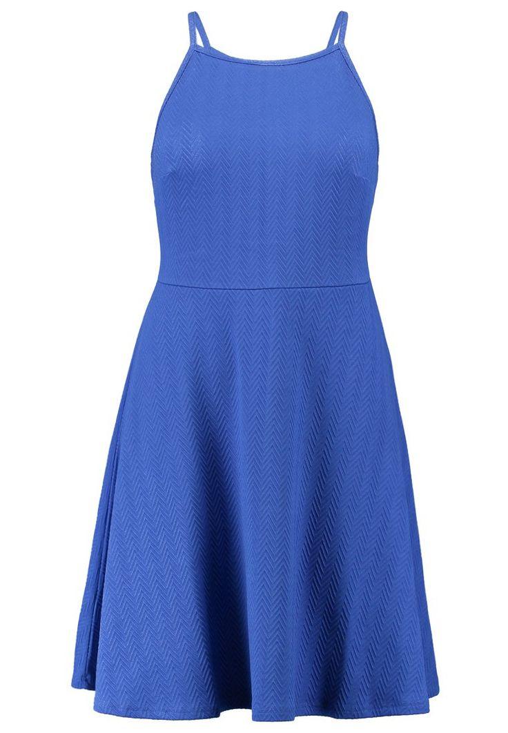 New Look Curves Sukienka z dżerseju mid blue