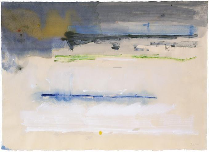 Helen Frankenthaler, Canal Street XV, 1987, Acrylic on paper 25 1/2 x 35 1/2 inches (64.8 x 90.2 cm)