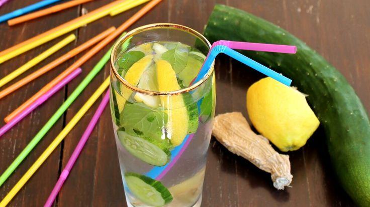 Zenzero e limone, associati a cetriolo e menta sono validi alleati per la perfetta forma fisica. Le acque detox sono l'alternativa estiva alle tisane.