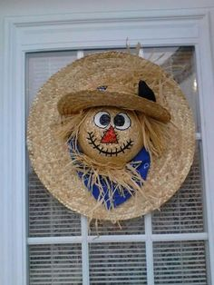 Image result for scarecrow face wreath