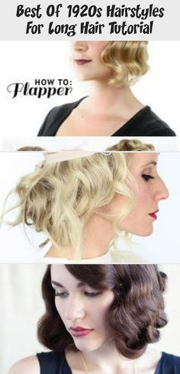 Best Of 1920s Hairstyles For Long Hair Tutorial ...