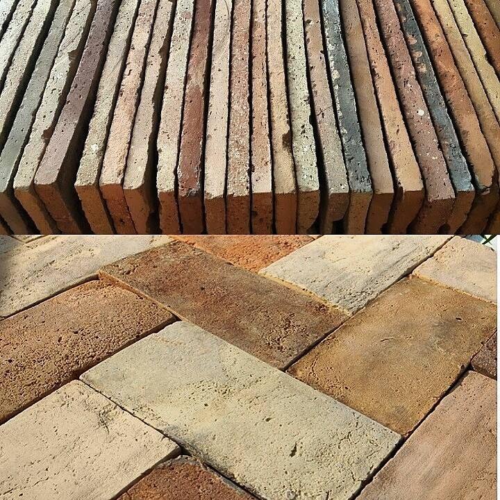 Antique Reclaimed Handmade Terracotta Floor Tiles From Central
