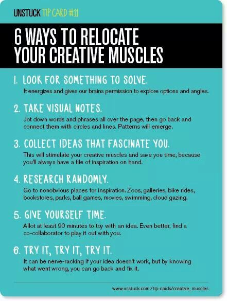 Ways to work your creative muscles