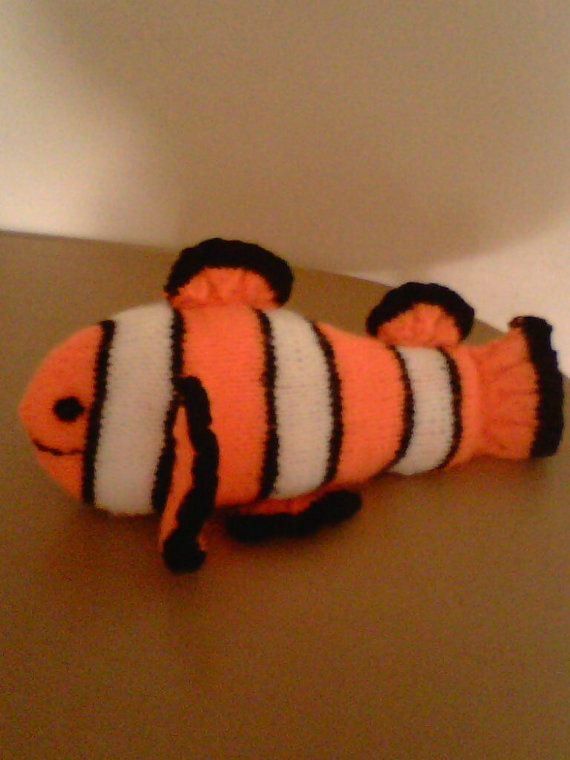 Nemo clown fish hand knitted by linsbargains on Etsy, £7.00