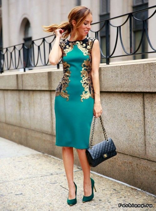 fancy green dress - Sydne Style Green and Gold
