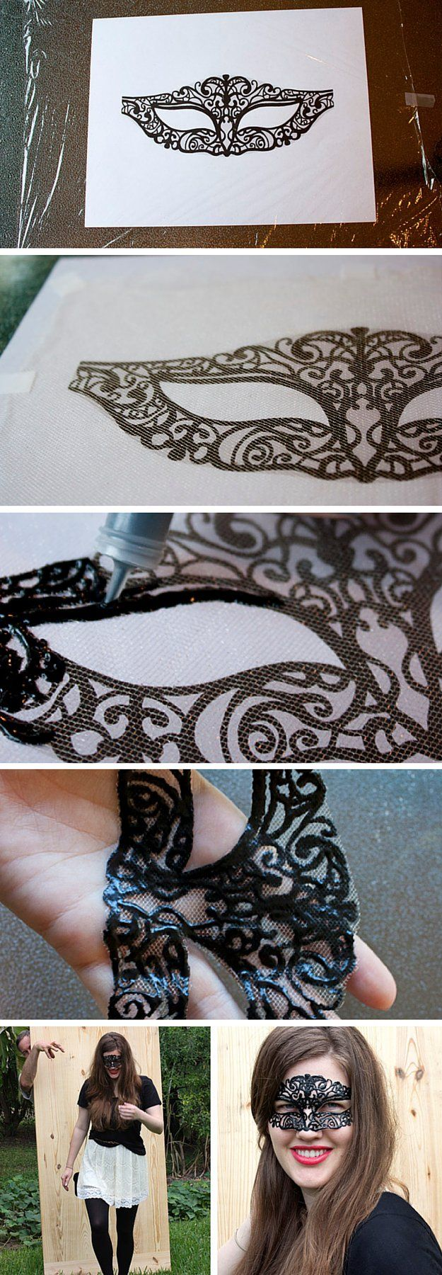 Lacey Mardi Gras Mask | Learn How To Make A Festive Mask With These 7 Easy DIY Mardi Gras Masks Tutorials by DIY Ready at http://diyready.com/7-diy-mardi-gras-masks-diy-tutorials/